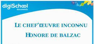 Le chef d'oeuvre inconnu - Honoré de Balzac