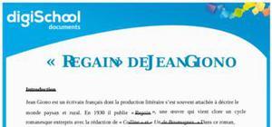 Regain - Jean Giono