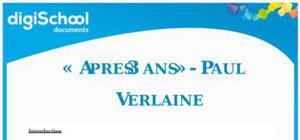 Après 3 ans - Paul Verlaine