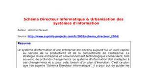 Schéma directeur informatique & urbanisation des systèmes d'information