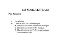 Cours de toxicologie ( les neuroleptiques)