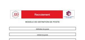 Modèle type de définition de poste