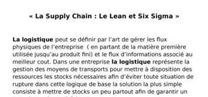 Supply chain et lean manufacturing