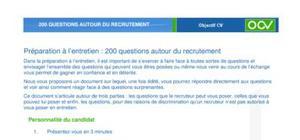 240 questions pour s'entrainer à un entretien de recrutement