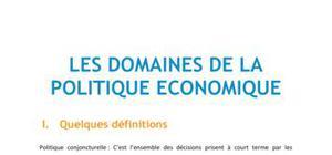 Doc - Les domaines de la politique économique CONCHOU