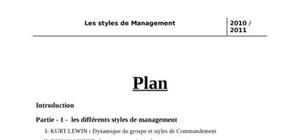 Les styles de management