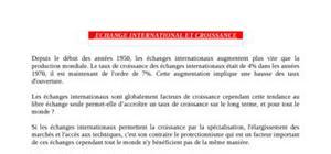 Dissertation - Echanges internationaux et croissance