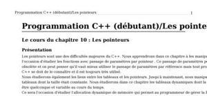 Programmation C++ : Les pointeurs