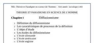 Théorie et paradigme en science de l'homme