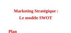 Marketing stratégique - Modèle SWOT