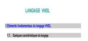 Cours sur la langage vhdl