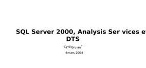 Cours de SQL (débutant)