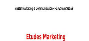 Etudes marketing cours