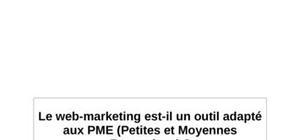 Le web marketing est il un outil adapté aux pme et tpe