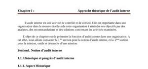 Rapport de stage audit