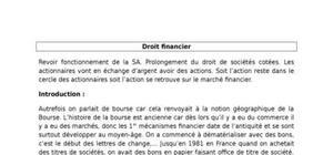 Droit des marchés financiers - Cours