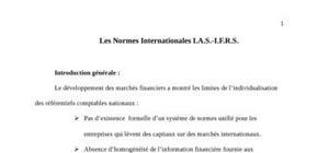 Les normes internationales i.a.s.-i.f.r.s.