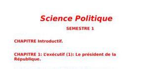 Cours de Sciences Politiques - Filières AES