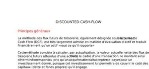 Methode discounted cash-flow
