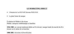 Marketing direct, cours intégral du semestre 2