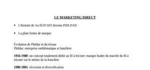 Marketing direct, cours intégral du semestre 2