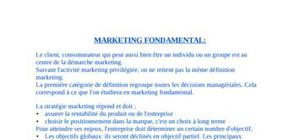 Cours de marketing, introduction dut tc