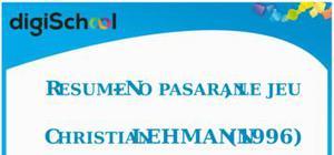 Fiche de lecture : No pasaran, le jeu de Christian Lehmann