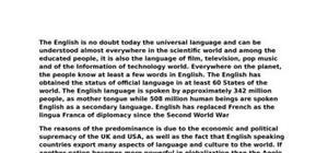 La globalisation de l'anglais dans le monde