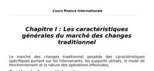 Cours de finance internationale