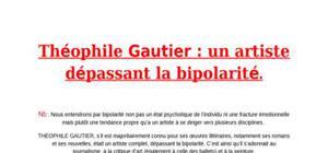 Théophile gautier : un artiste dépassant la bipolarité.