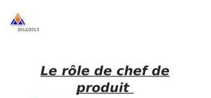 Rôle du chef de produit