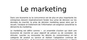 La démarche marketing