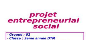 Projet entrepreneurial social