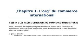 Droit et commerce internationale