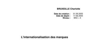 L'internationalisation des marques