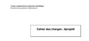 Modèle cahier des charges