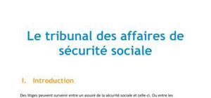 Doc - Le tribunal des affaires de sécurité sociale
