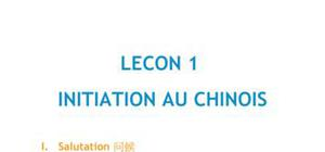 DOC - Lecon 1 initiation au chinois
