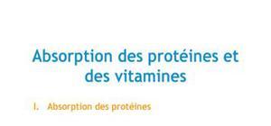Doc - Absoption des protéines et des vitamines PACES