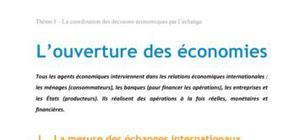 Doc - L ouverture des economies economie BTS1 - BURGLE