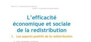 L'efficacité économique et sociale de la redistribution - Economie BTS