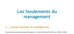 Les fondements du management - BTS MUC