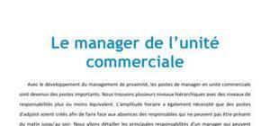 Le manager de l'unité commerciale - BTS MUC