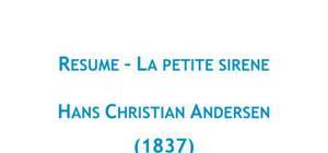 Résumé La Petite Sirène, Andersen - FRANCAIS
