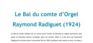 Le diable au corps, Radiguet - Fiche de lecture Français