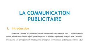 La communication publicitaire - Marketing BTS NRC