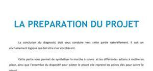 La préparation du projet - BTS NRC