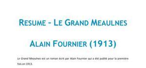 Le Grand Meaulnes, Alain Fournier - Fiche de lecture