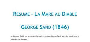 La Mare au Diable, George Sand - Fiche de lecture