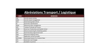 Lexique Transport / Logistique